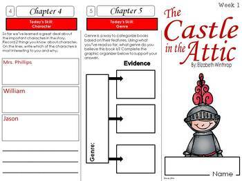 Castle in the Attic Foldable Novel Study Unit