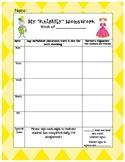 Castle theme Homework Assignment Sheet