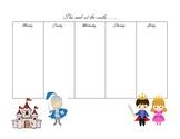 Castle themed week planner pack