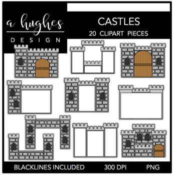 Castles Clipart {A Hughes Design}