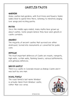 Castles Fact Cards