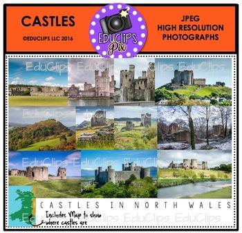 Castles Photo Set {Educlips}