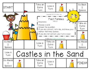 Castles in the Sand -- Fact Families Game
