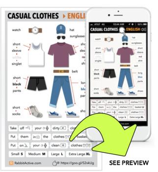 Casual Clothes > PDF + Interactive Lesson