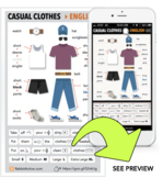 Casual Clothes > PDF + Interactive Lesson
