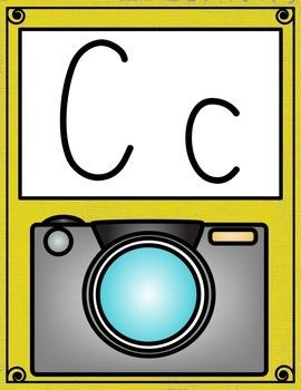 Casual Cursive Alphabet Posters
