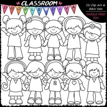 Casual Girls Clip Art - Kids Clip Art