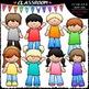 Casual Kids Clip Art & B&W Bundle (3 Sets)
