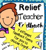 Casual/Relief Teacher Feedback Forms