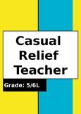 Casual Relief Teacher Folder (FOR CLASSROOM TEACHERS)
