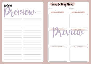 Casual Relief Teacher Pastel Planner Weekly View