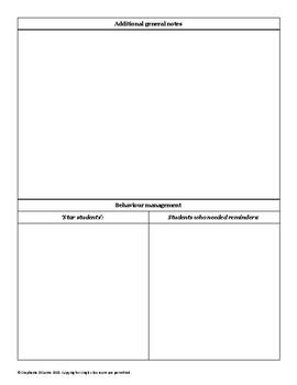 Casual Relief Teacher feedback form