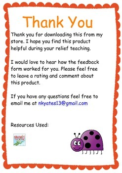 Casual Relief Teaching Feedback Form  Free Feedback Form