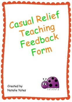 Casual Relief Teaching Feedback Form
