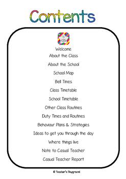 Casual Teacher Folder
