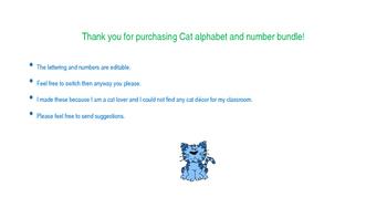 Cat Alphabet & Numbers (editable)