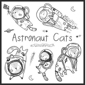 Cat Astronaut Clip Art Clipart Space Astronomy