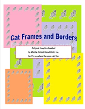 Cat Borders and Frames for Personal or Commercial Use