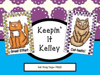 Cat Brag Tags- FREE