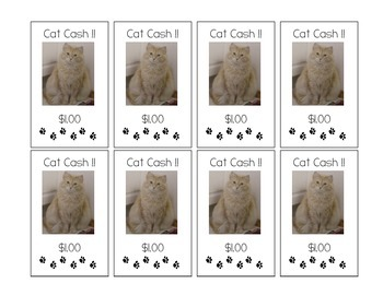 Cat Cash - classroom currency