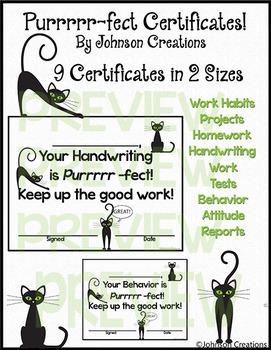 Purrrrr-fect Cat Certificates!
