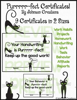 Purrrrr-fect Cat Certificates!