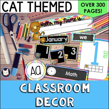 Cat Decor Bundle EDITABLE