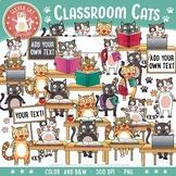 Cat Clip Art - Classroom Cats!