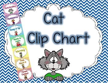 Cat Clip Chart Chevron