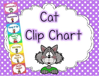 Cat Clip Chart Polka Dots