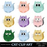 Cats Clip Art Colorful Cat Clipart Animal Clip Art Pet Clipart