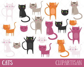 Cat Clip Art, Kittens