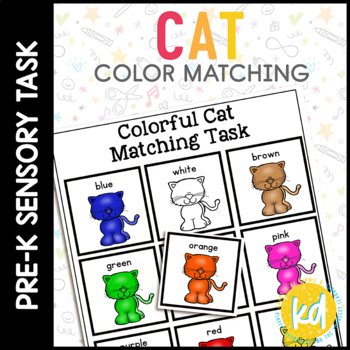 Folder Game: Cat Color Matching for Students with Autism & Special Needs