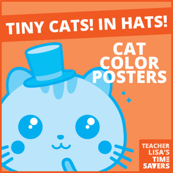 FREE Cat Color Posters and Flashcards