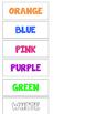 Cat Color Words File Folder