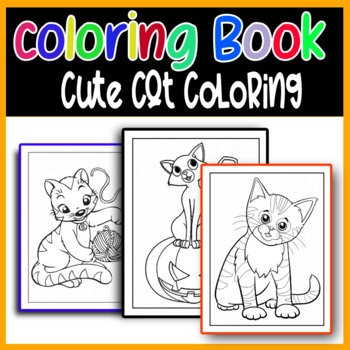 Cat Coloring Page Worksheets Teaching Resources Tpt