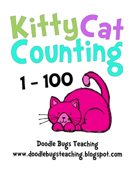Cat Counting Cards - Count from 1-100 Pre-K, Kindergarten, First Grade