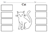 Cat Diagram: Cut Glue and Label