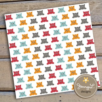 Cat Digital papers and Clipart