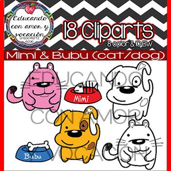 Cat & Dog Cliparts