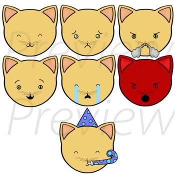 Cat Emojis - VIPKid My Feelings Demo Lesson Props