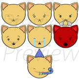Cat Emojis - VIPKid Feelings Lesson ESL Props
