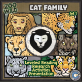 Cat Family (Felids) - Zoo Wild Bundle - Leveled Reading, Slides & Activities