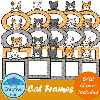 Cat Frame Clipart