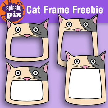 Cat Frame Clipart Freebie