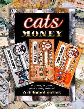 Cat Fun Play Money