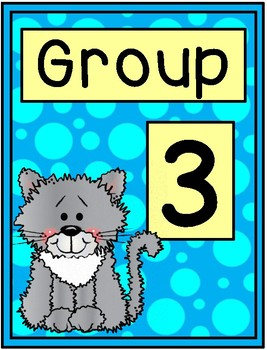 Cat Group Signs - Table Group Signs