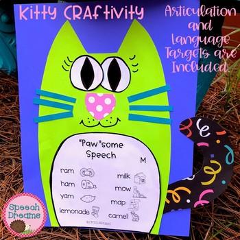 Cat Halloween Speech Craftivity {language & articulation craft}
