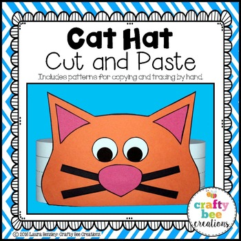 Cat Hat Cut and Paste