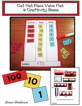 """""""The Cat's Hat"""": Place Value Craft & Game"""